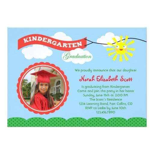 kindergarten graduation photo invitation 161002712068190758