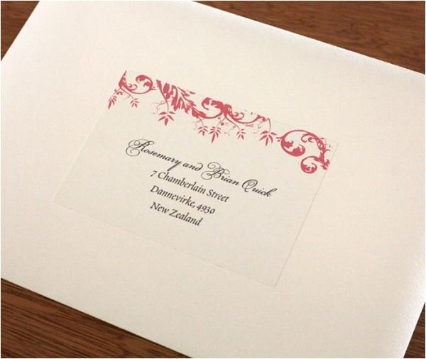 Labels for Addressing Wedding Invitations Address Labels for Wedding Invitation Envelopes