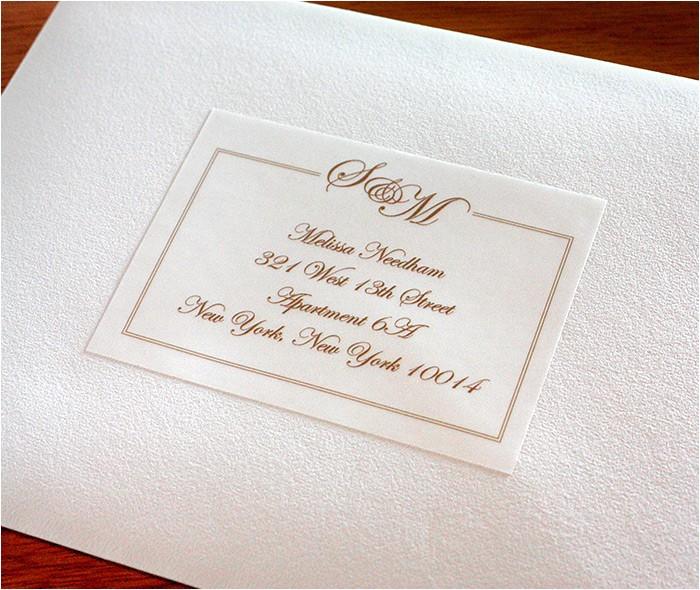 address labels match wedding invitations