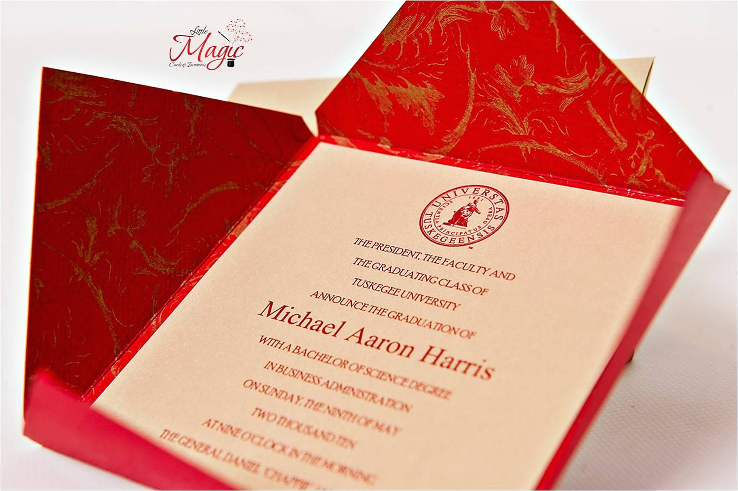 fabulous traditional high school graduation announcements