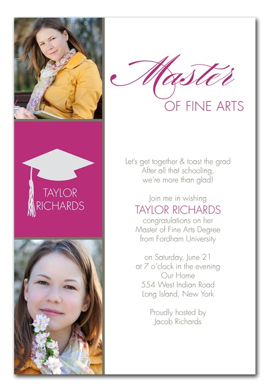 masters degree graduation announcements