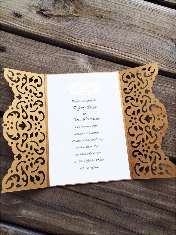 sample elegant wedding invitation