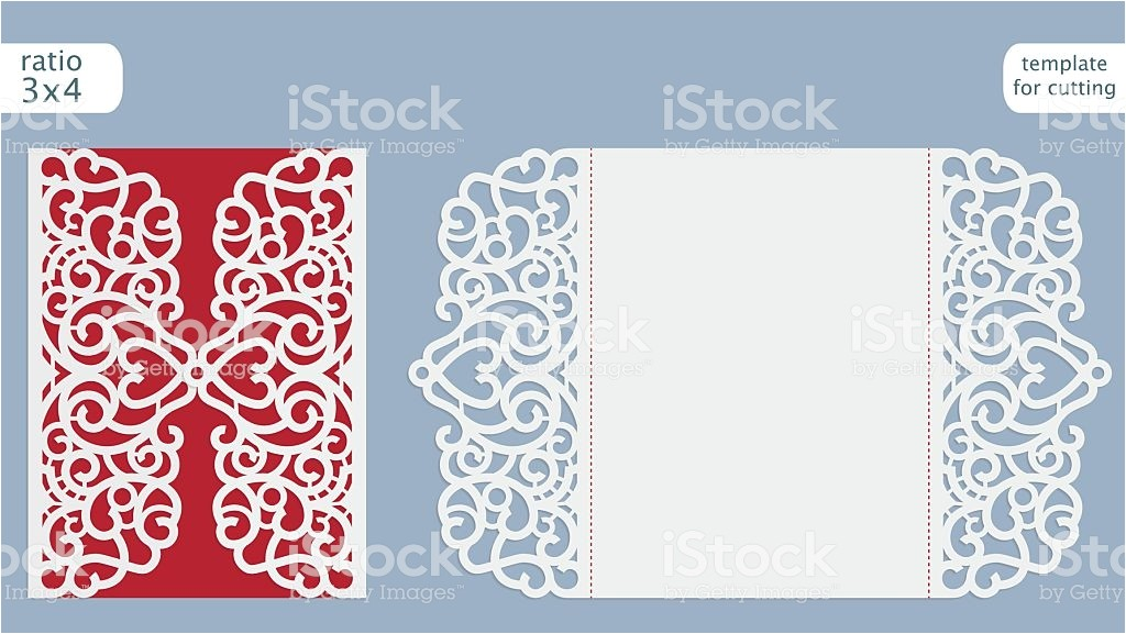 laser cut wedding invitation card template vector gm615616436 106834039