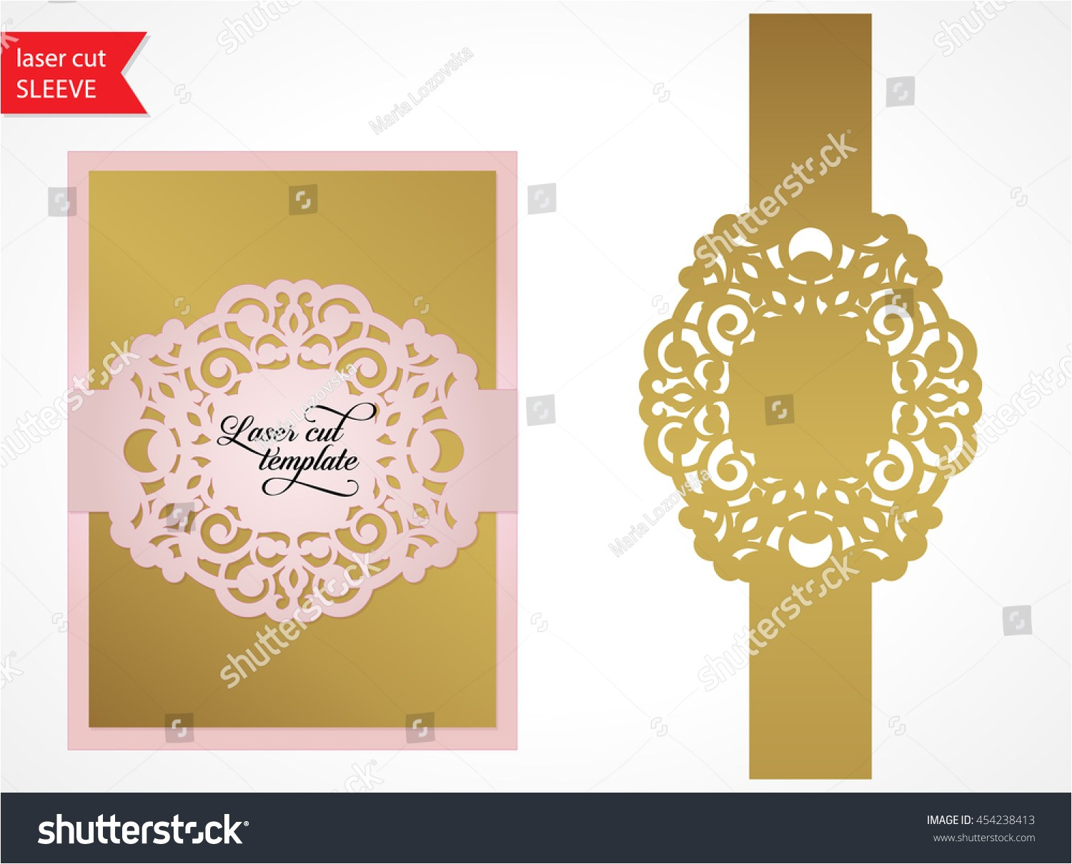 laser cut wedding invitation template silhouette 454238413