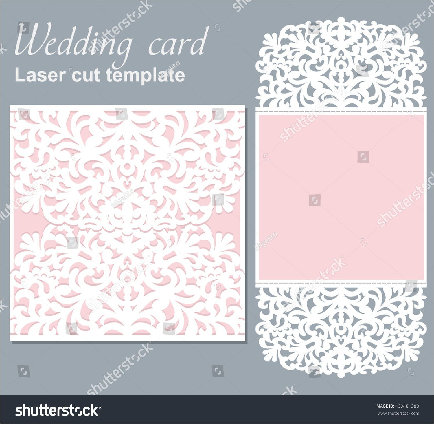 vector die laser cut wedding card 400481380