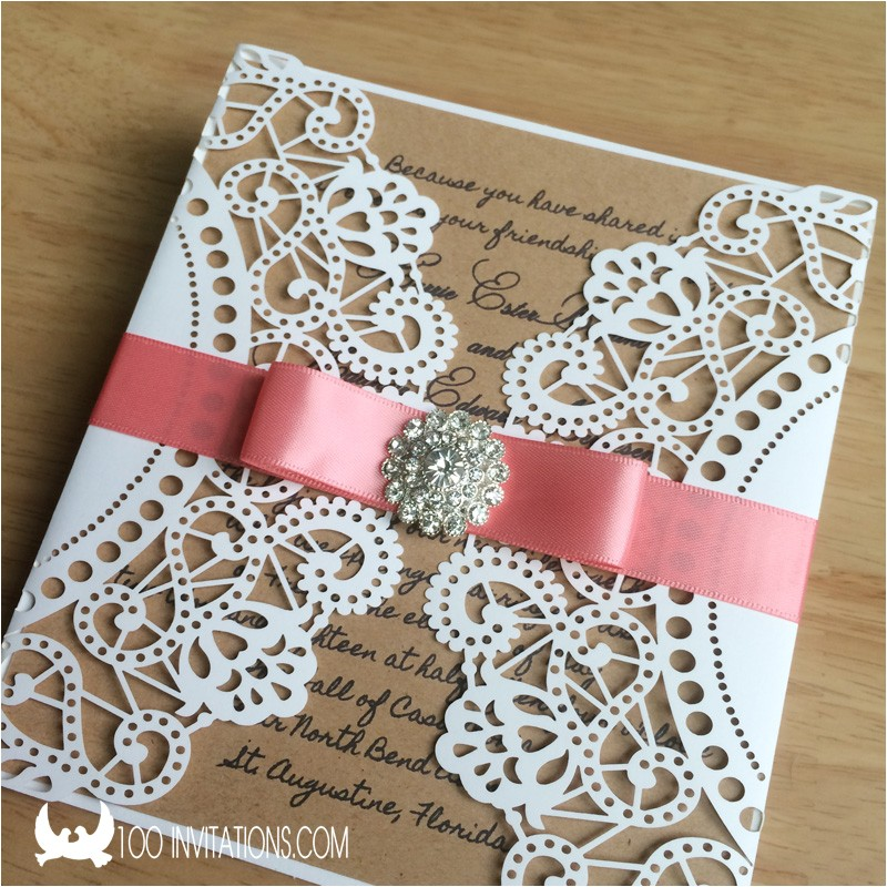 laser cut wedding invitations cheap