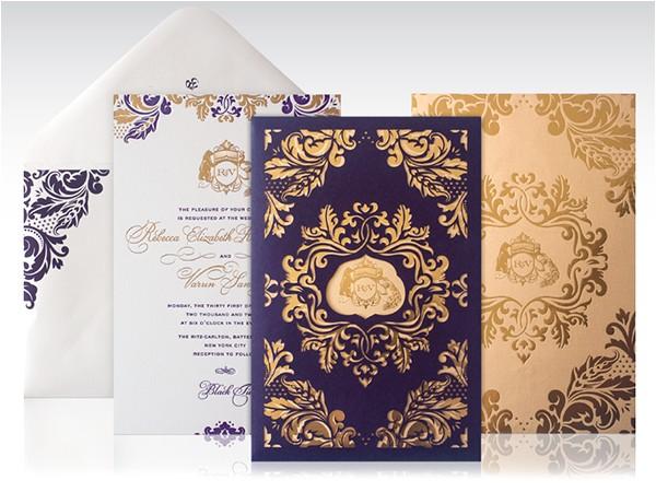 new years eve laser cut wedding invitation