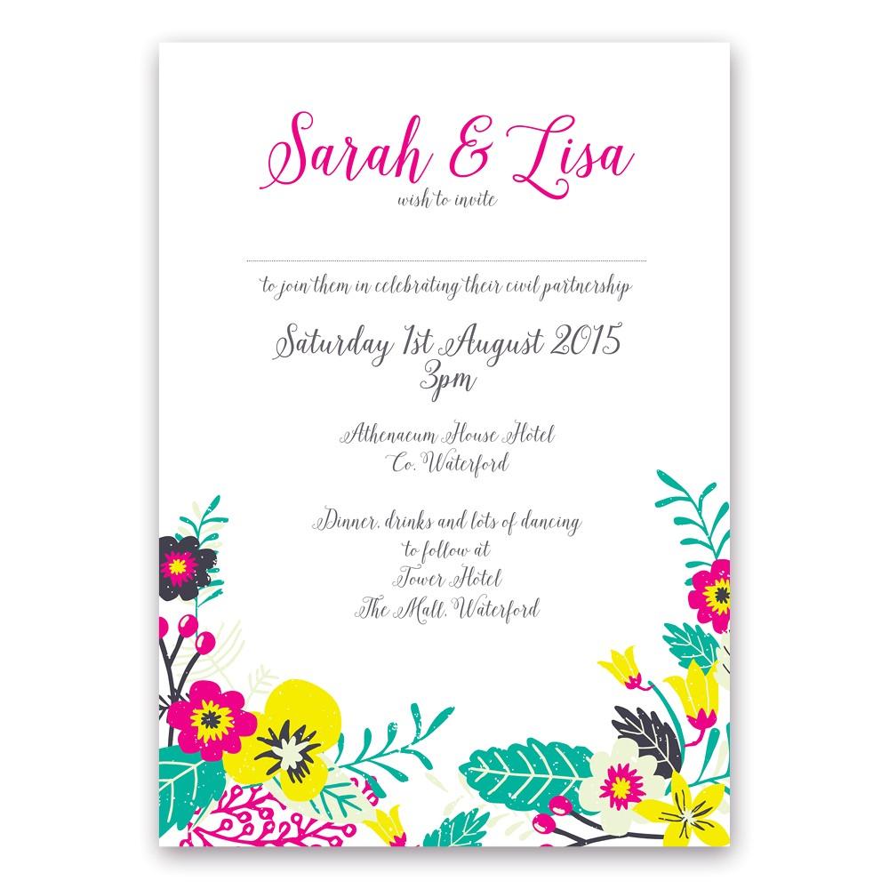 best lesbian wedding invitations free ideas