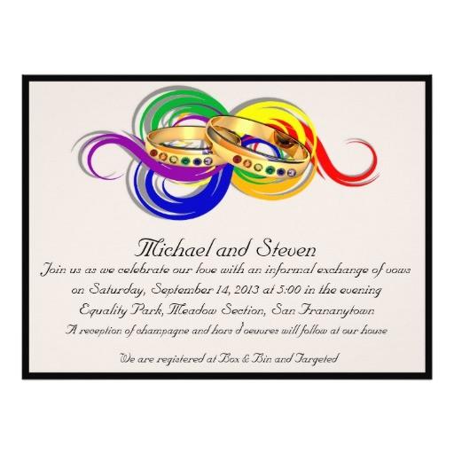 custom gay wedding invitations non formal 161981651489955366