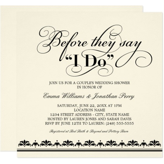 couples wedding shower invitation wedding vows 161908205866493293