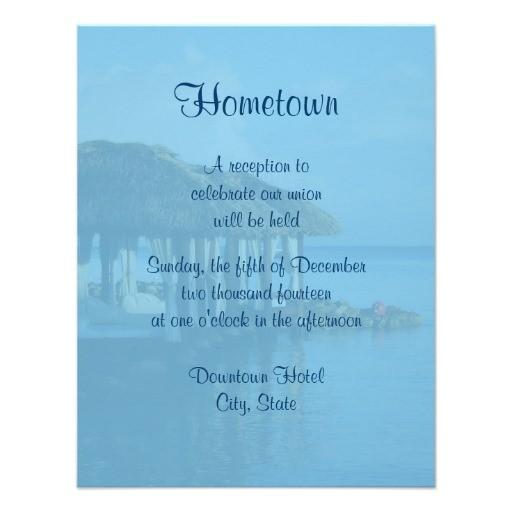 tropical beach destination wedding local reception invitation 161318241949594931