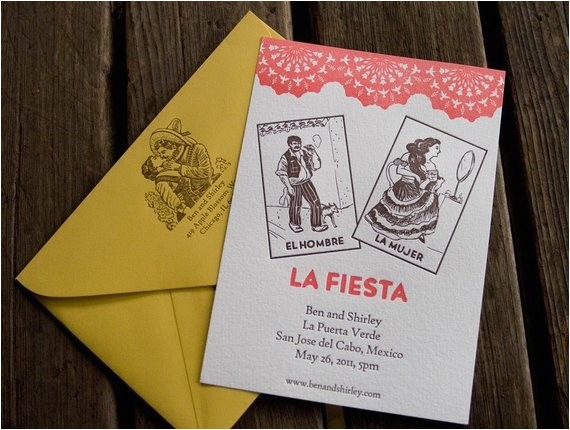 Loteria Wedding Invitations Items Similar to Mexican Loteria Digitally Printed Wedding