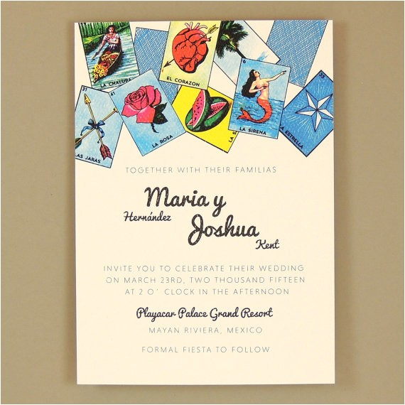 loteria wedding invitation
