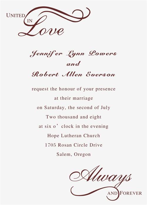 always united in love wedding invitations iwi210 p 210