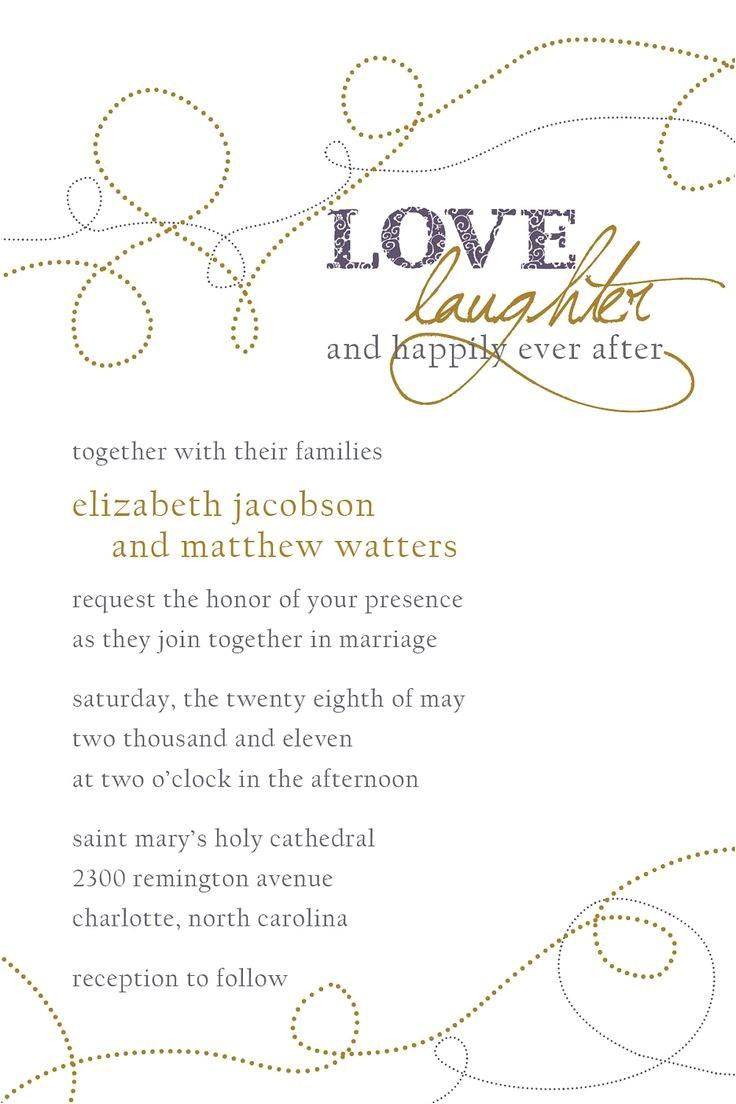 wedding invitation wording happily ever