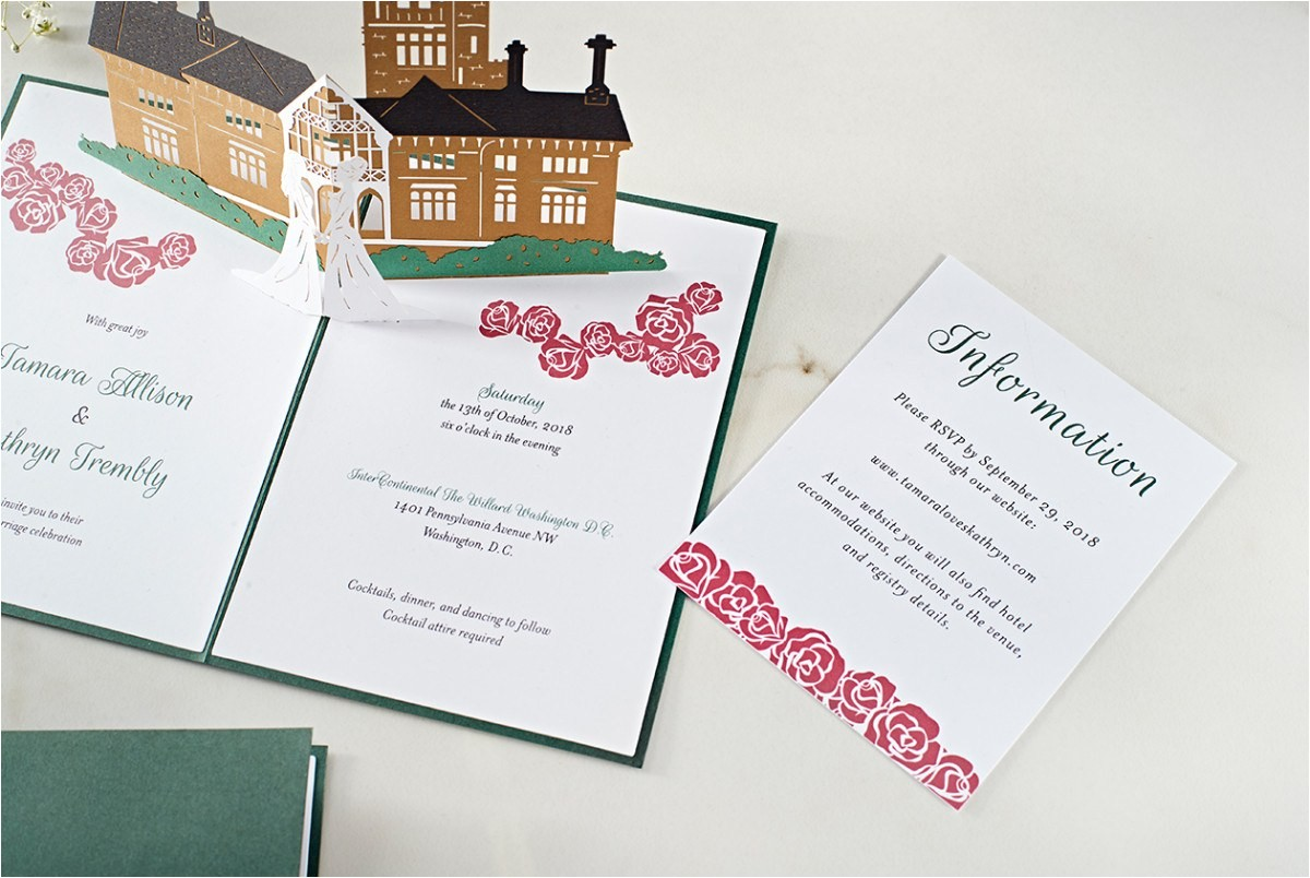 guests will never throw wedding invitations away lovepop