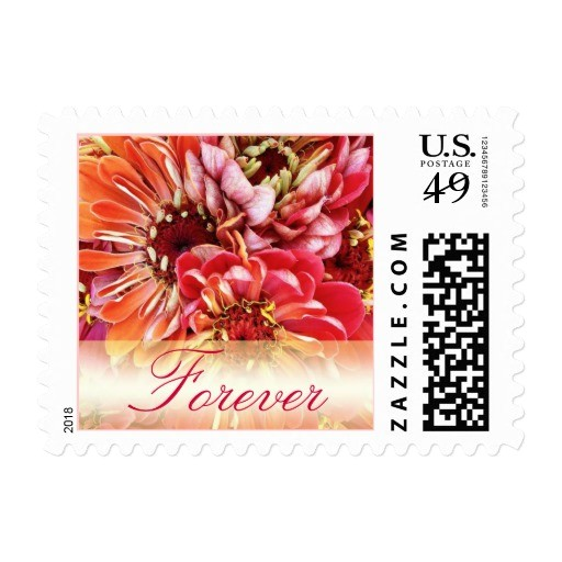 colorful forever love wedding invitation stamps postage 172067667358070963