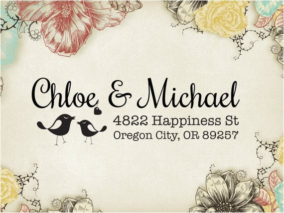 love birds wedding stamp wedding