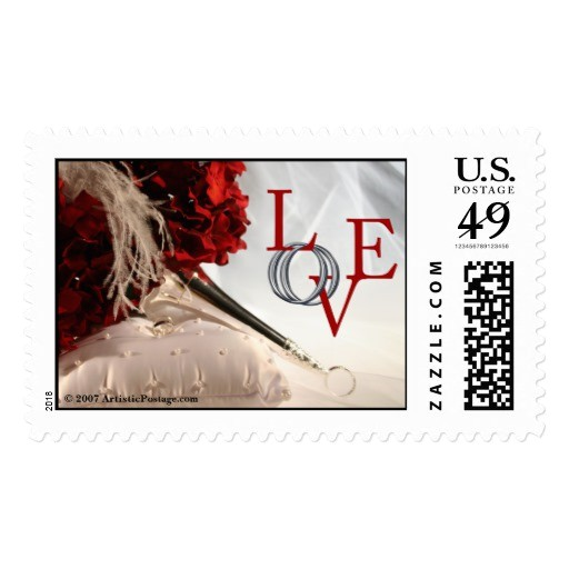love wedding invitation postage stamp 172794108185675606