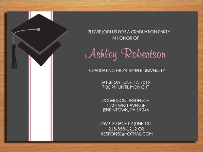 create graduation party invitations 122414671