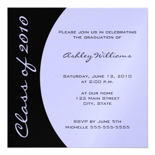 choose your own color graduation invitations 161568677594552862