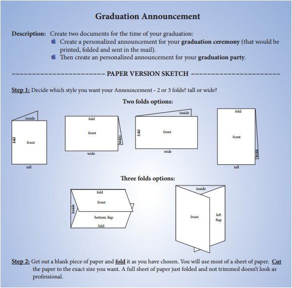 graduation announcement template