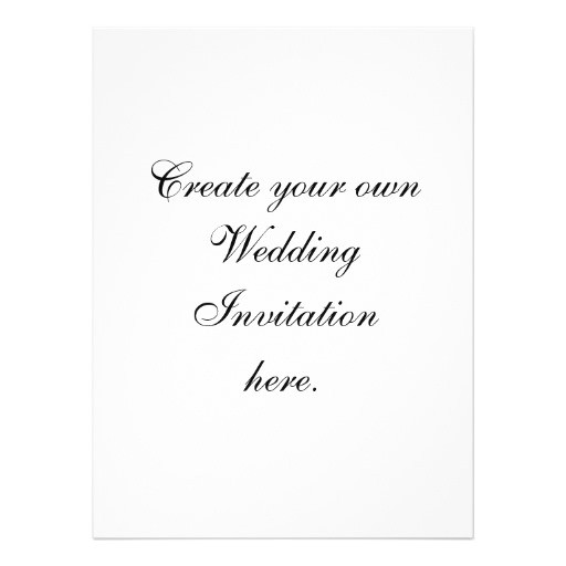 create your own wedding invitations large size 161423213965145927