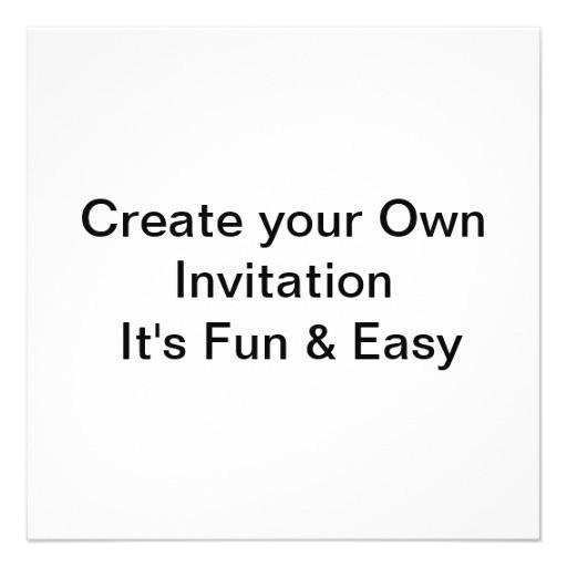 wedding create your own invitation 161555744714341088