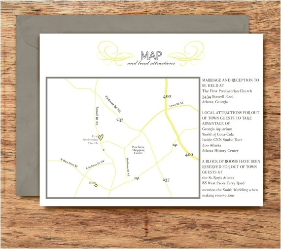 best ideas direction cards for wedding invitations sample to make