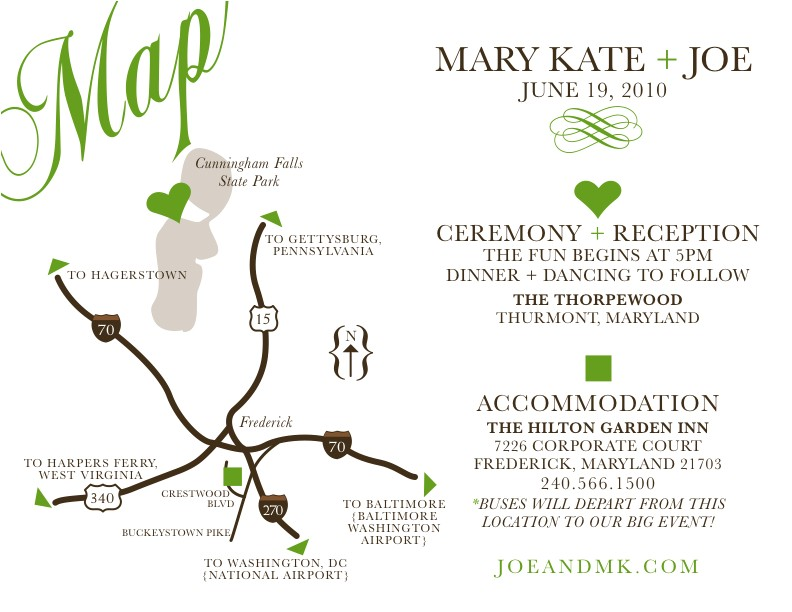 custom printable wedding map invitation