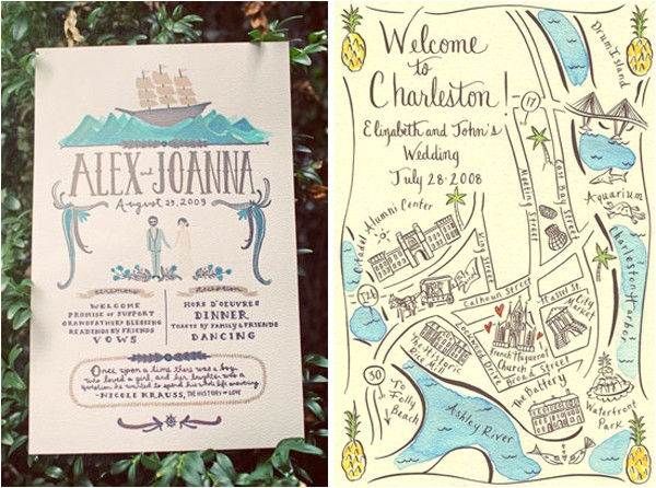 greet your guests with gusto custom illustrated invitations