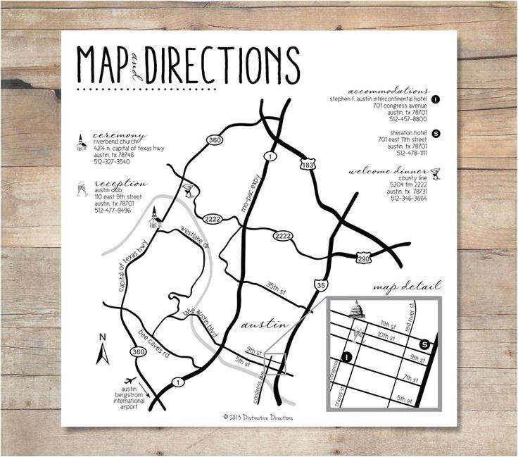 wedding direction maps