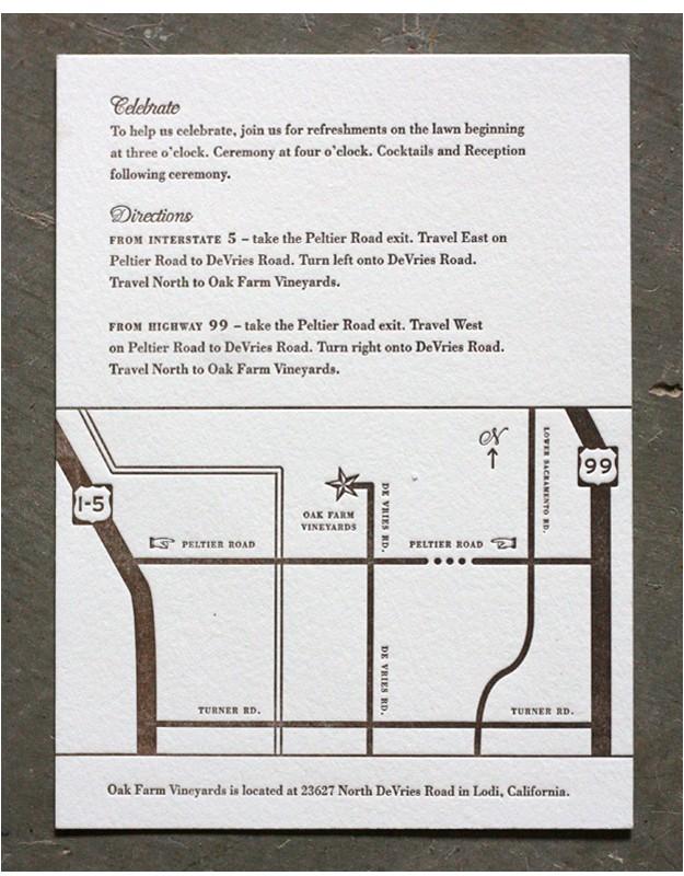 wedding invitation map insert