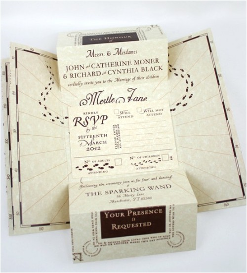 marauders map themed invitations oh hell yes