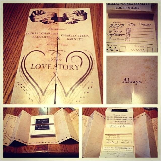 Marauders Map Wedding Invitations Harry Potter Marauders Map Wedding Invitation 2435199