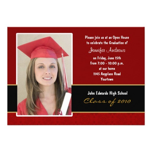 maroon and black damask graduation invitation 161461082315413626