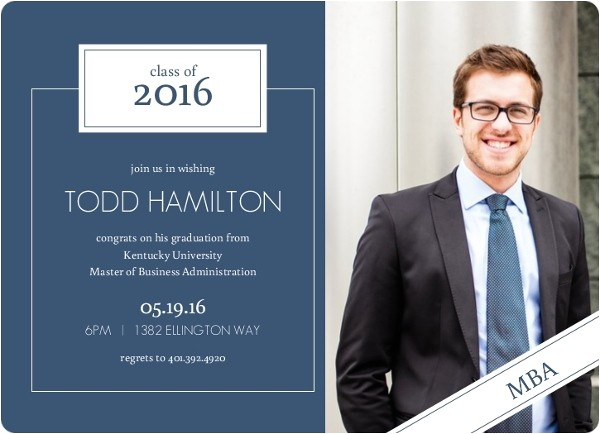 graduate school graduation invitation wording