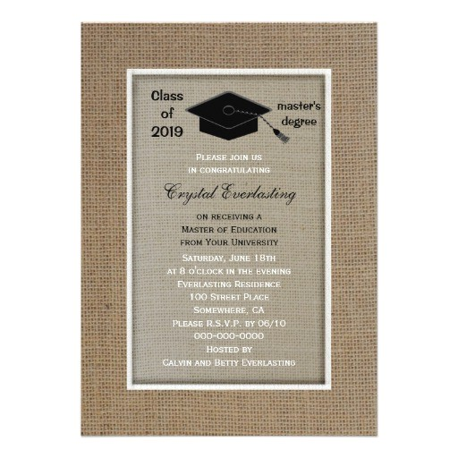 masters degree graduation invitation 256316434155009135