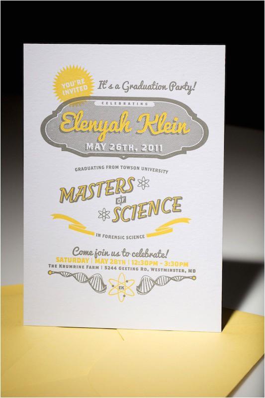 Masters Degree Graduation Party Invitations 10 Graduation Invites that School All the Rest