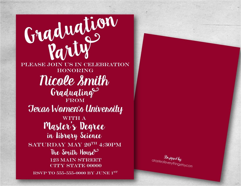 graduation party invitation save the