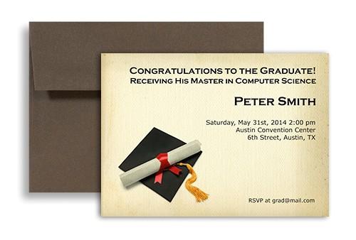 word template graduate phd mba master printable graduation invitation gi 1049