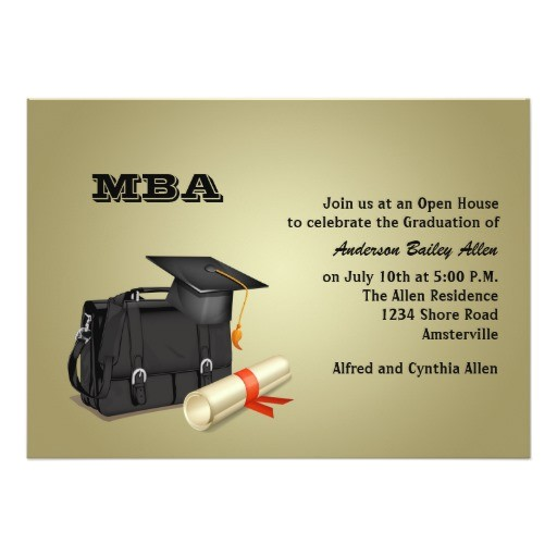 business graduate graduation invitation 161250908172729381