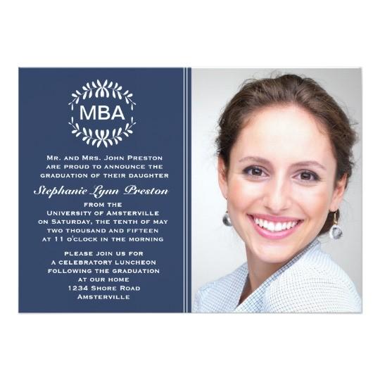 laurel branches photo graduation invitation anno 161218188246915859
