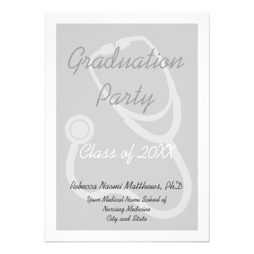 medical school graduation party invitation 161536683261764867