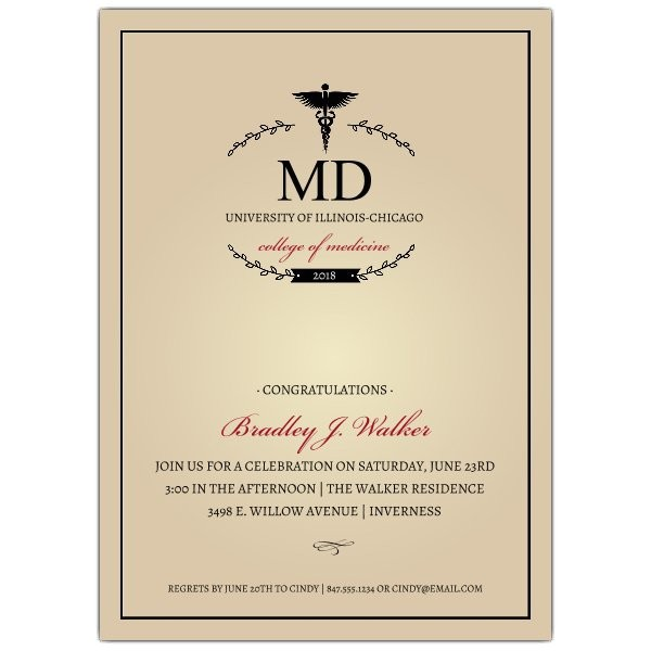monogram medical degree graduation invitations p 638 57 203