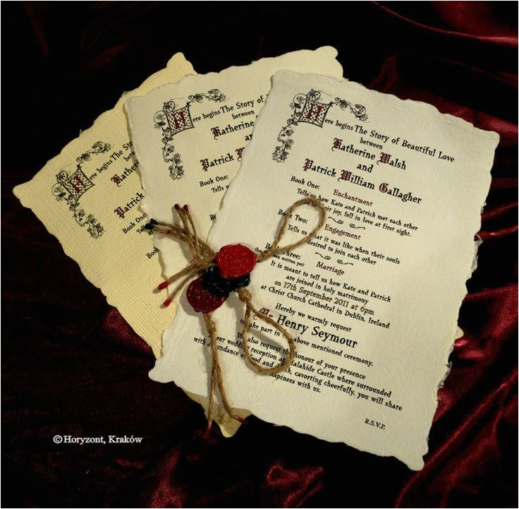 medieval wedding invites