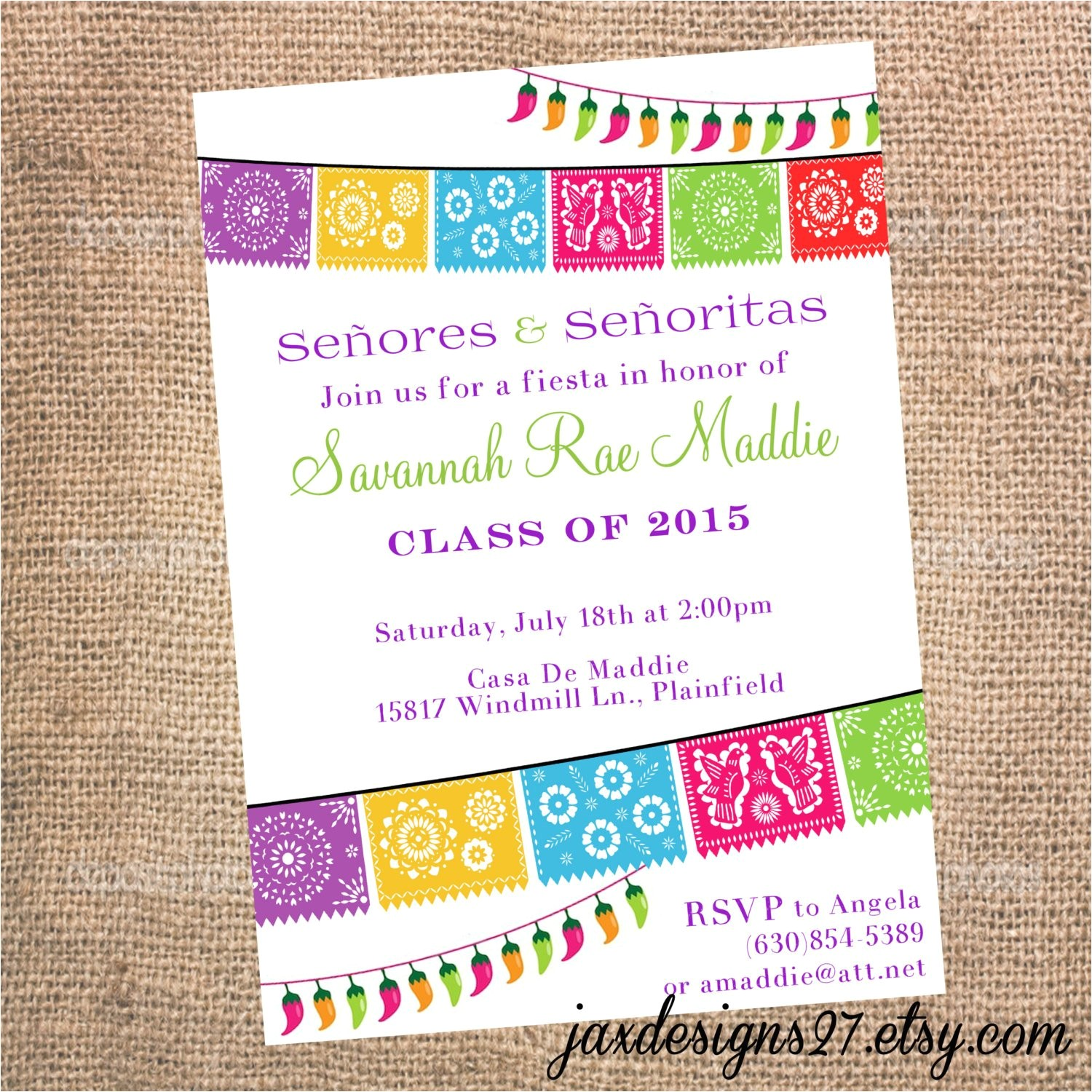 Mexican themed Graduation Party Invitations Mexican Party Invitations Gangcraft Net