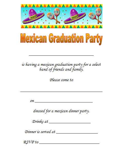 mexican printable graduation invitations