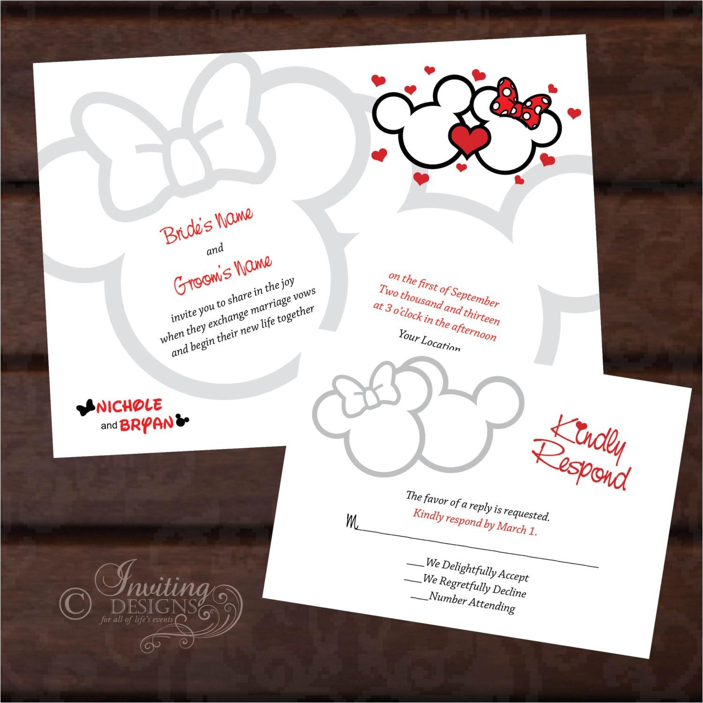 mickey and minnie custom wedding