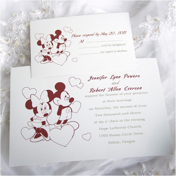 mickey mouse wedding invitations template